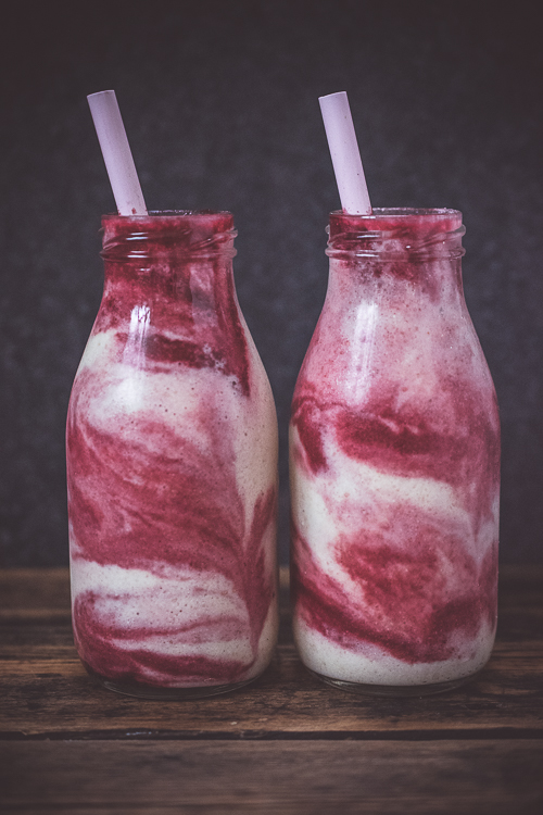 Get down with the Beet Juice Swirl Smoothie