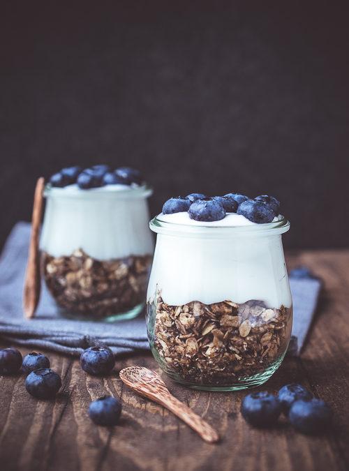 Blueberry, Yoghurt & Granola Breakfast Jar