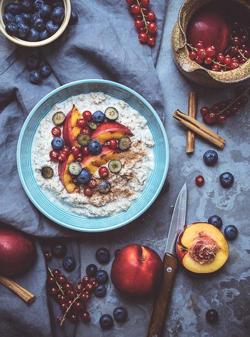 Buckwheat Porridge with Stone Fruit and Berries