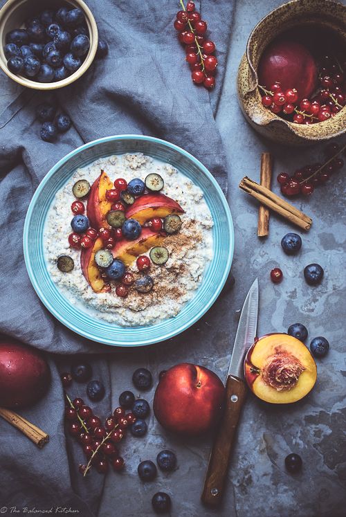 Buckwheat Porridge with Stone Fruit and Berries