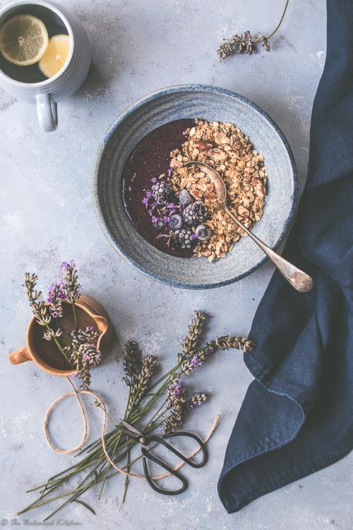 Lavender & Blackberry with Hazelnut & Almond Granola
