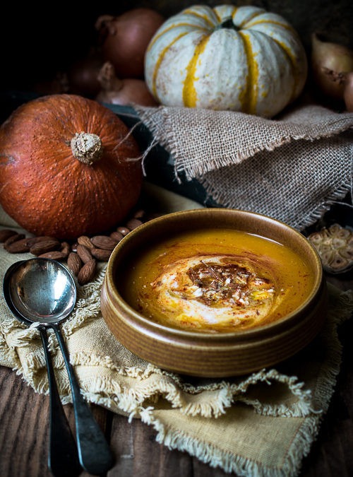 Roasted Winter Squash, Sweet Smoked Paprika and Almond Soup