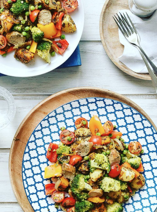 Vegan Sausage, Broccoli, Pepper & Tomato Summer Stir-fry