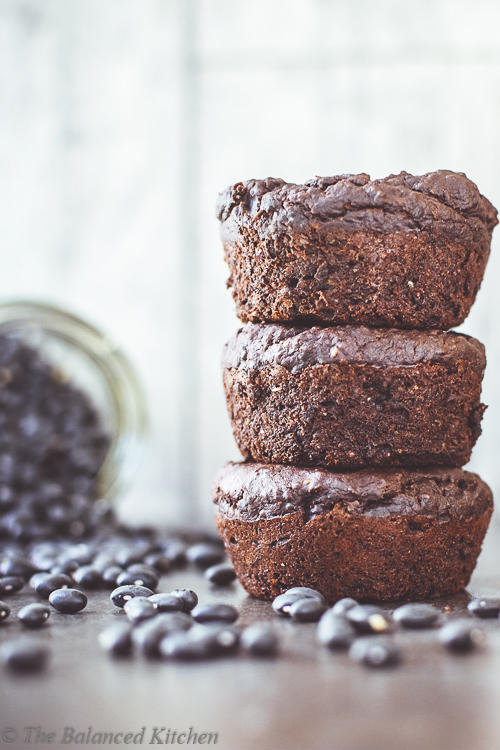 Vegan Black Bean Chocolate Brownie Muffins
