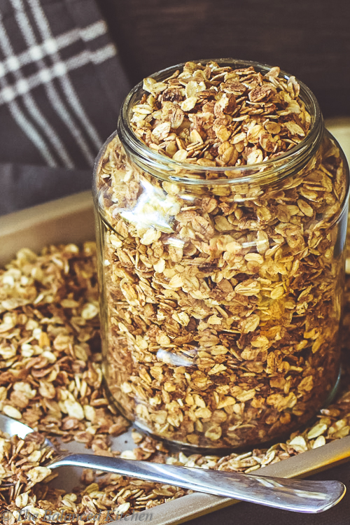 Chocolate Orange Homemade Crunchy Granola