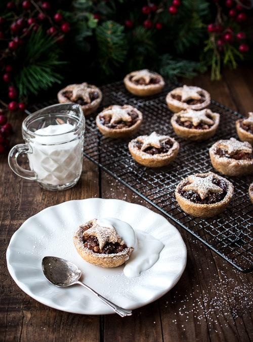 Mini Vegan Homemade Star Mince filled Pies