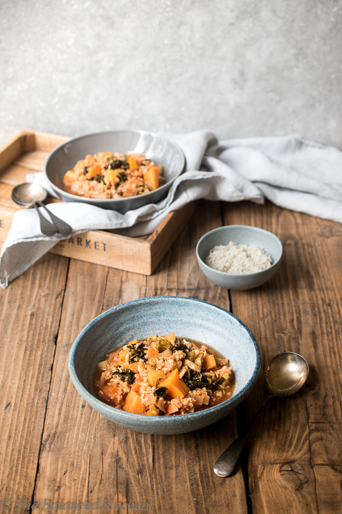 Brown Rice and Winter Veg Slow Cooked Stew