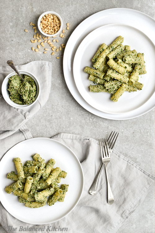 Rocket & Walnut Pesto Rigatoni Pasta