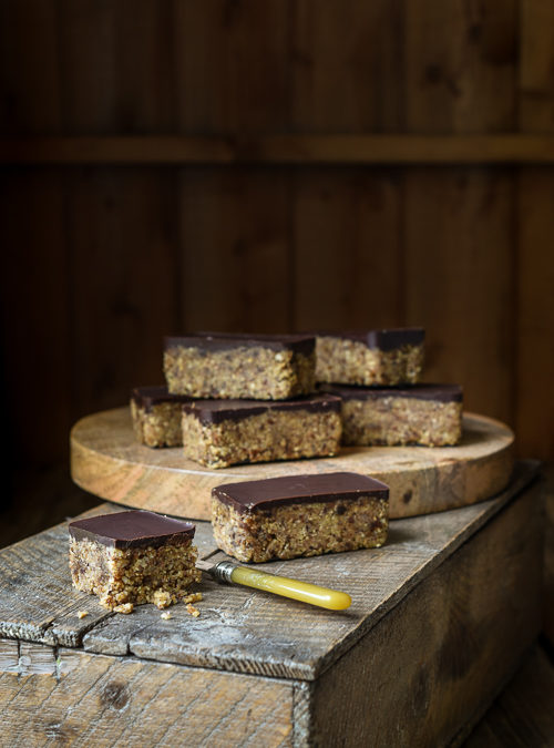 1-2-3 Chocolate Topped Chunky Energy Bars