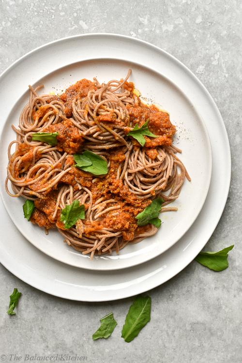 Wholemeal Spelt Spaghetti Lentil Bolognese