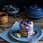 vegan pancakes blueberries recipe