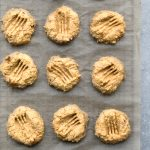 vegan chickpea peanut butter biscuits
