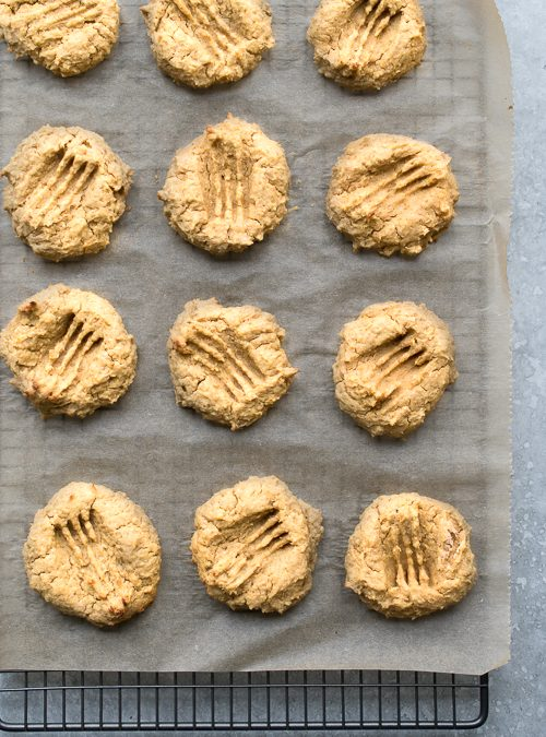 Sweetened Peanut Butter & Chickpea Biscuit Bites