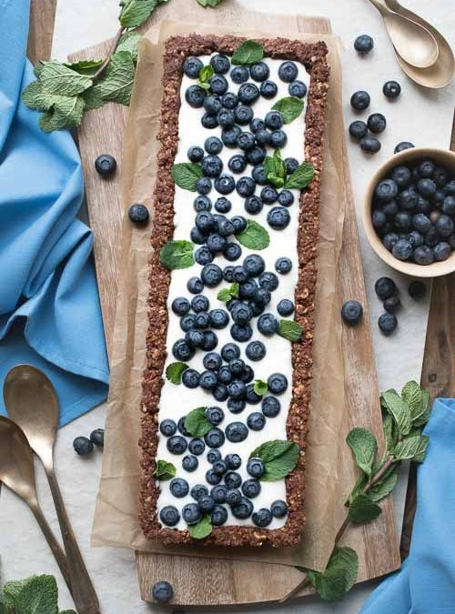 Hazelnut & Chocolate Blueberry Cream Tart