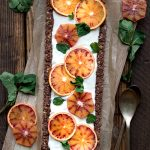 vegan chocolate orange tart cream blood oranges recipe