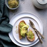 vegan avocado toast broccoli sprouts recipe