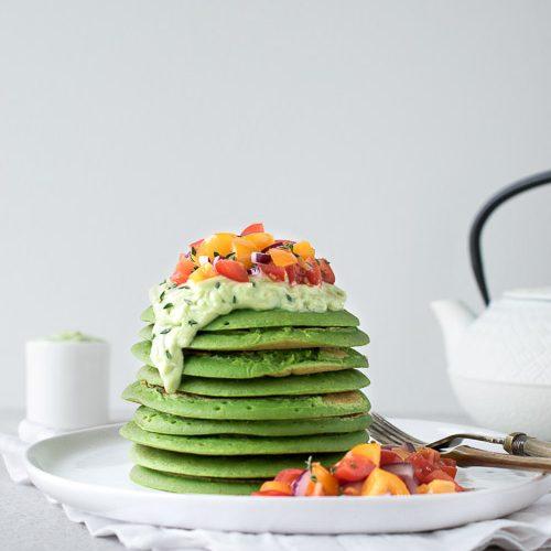 vegan savoury pancakes 3 green recipe