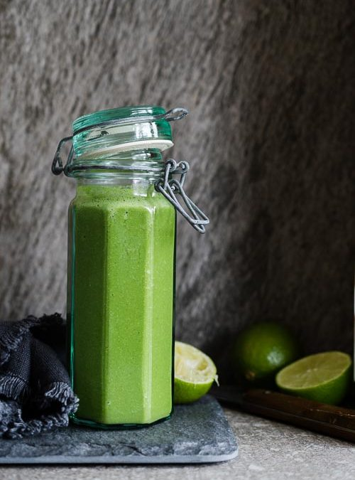 Spinach, Cucumber, Apple & Lime Green Smoothie