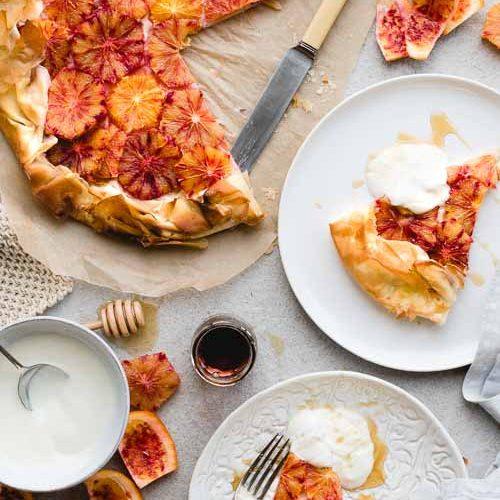 blood orange vegan pastry tart