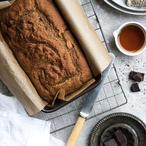 vegan, banana bread, chocolate