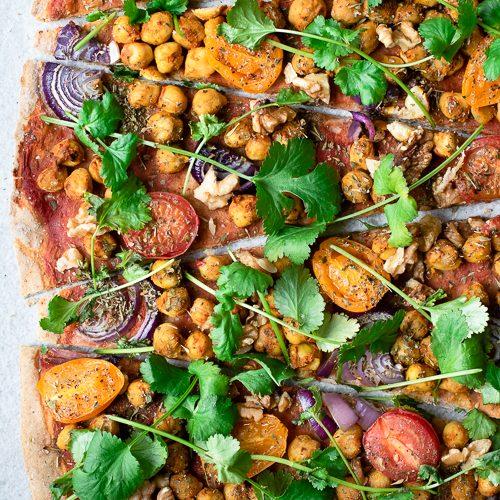 vegan pizza, pizza