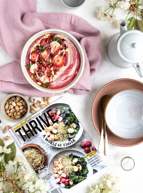 My FRONT COVER (eek!) feature with US No.1 Plantbased Magazine: THRIVE