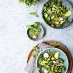 vegan, salad, lime, quinoa, mango, watercress