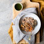vegan, breakfast, porridge, carrot cake
