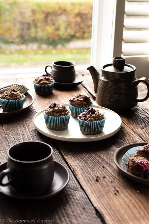 Almond, Apple, Blackberry & Pear Savoury Breakfast Muffins