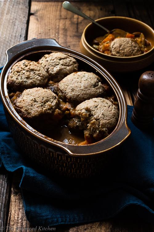 Vegetable Stew with Chestnuts, Rosemary & Vegan Herb Dumplings