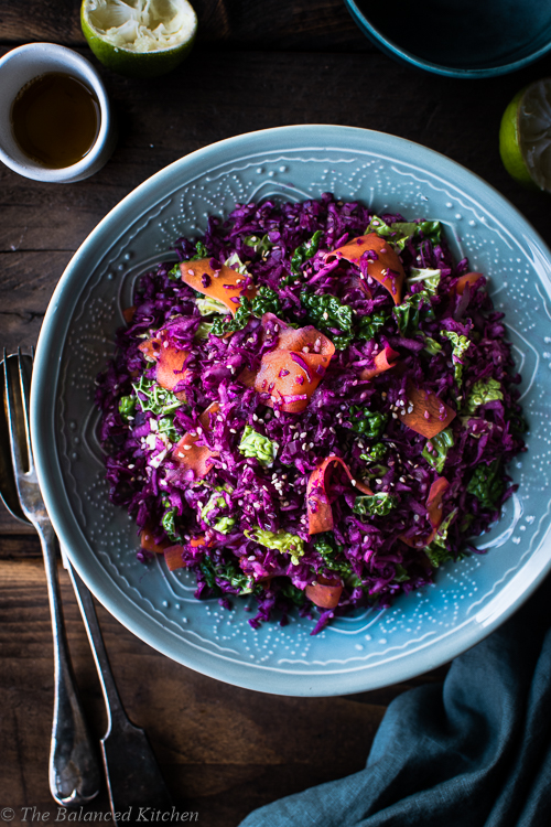 Asian Slaw – Red Cabbage, Carrot, Chilli, Lime & Sesame