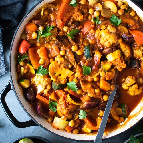 Easy, One Pot, Moroccan Vegetable Tagine