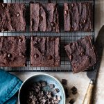 black bean, tahini, chocolate brownies