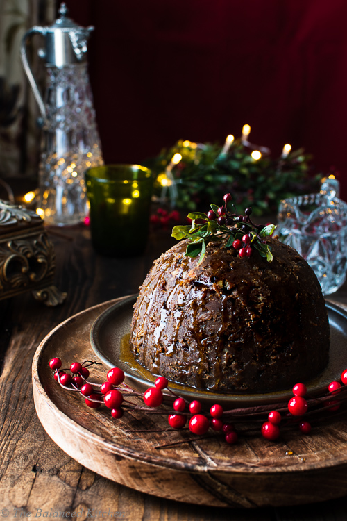 Traditional Christmas Pudding (activated nuts & a vegan twist)