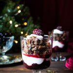 Christmas Pudding Pots with Blackberries & Coconut Cream