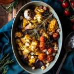Turmeric & Mustard Roasted Cauliflower with Leek & Potatoes