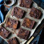 Chocolate Brownies with Almonds & Sweet Potato - vegan