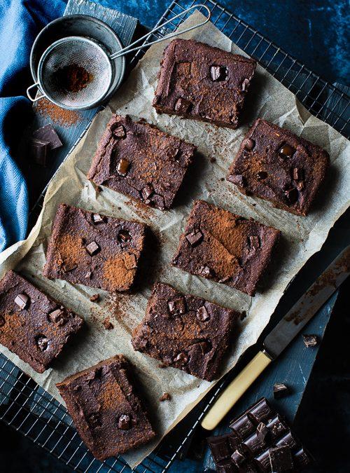 Chocolate Brownies with Almonds & Sweet Potato – vegan