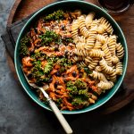 Garam Masala Carrot, Kale & Black Beans with Pasta
