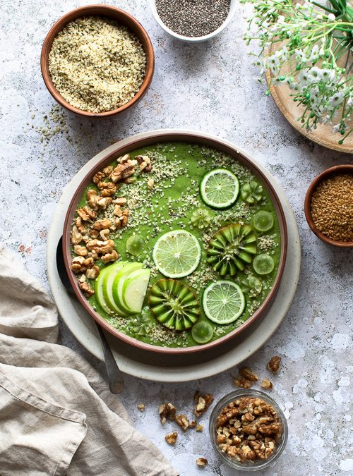 Omega 3 Green Smoothie Breakfast Bowl