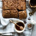 Banana Bread Brownie with Chocolate Chunks (vegan)