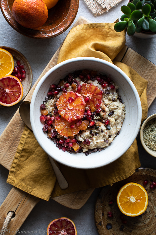 Blood Orange, Pomegranate, Sunflower Seeds & Cacao Porridge Oats