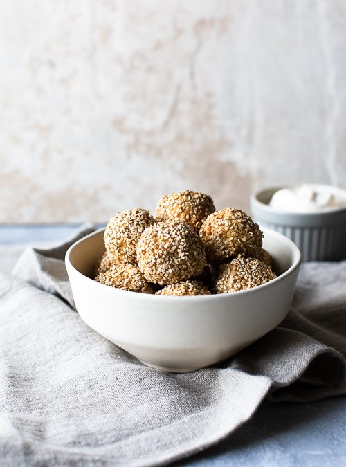 Crunchy Cashew Cauliflower Cheeze Balls