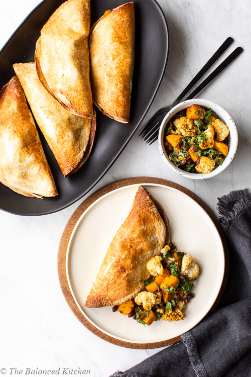 Roasted Cauliflower, Butternut & Black Bean Hand Pies