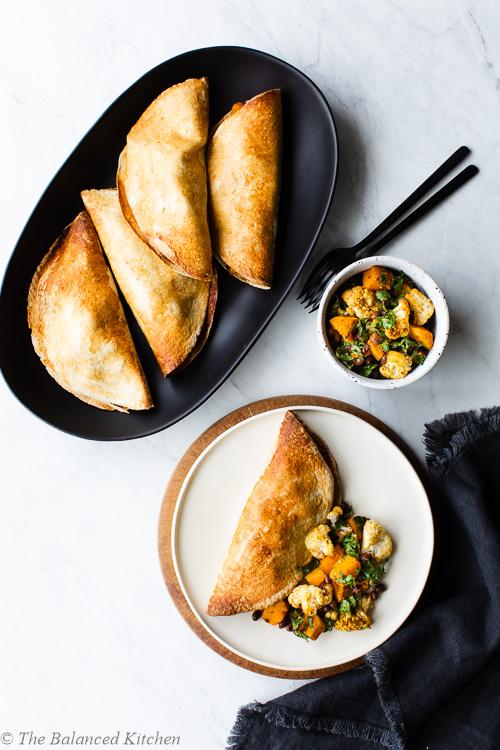 Roasted Cauliflower, Butternut & Black Bean Hand Pies