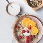 Raspberry & Orange, Crunchy Oats and Yoghurt