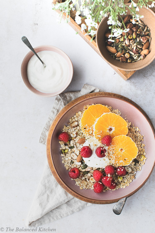 Raspberry & Orange, Crunchy Oats and Yoghurt
