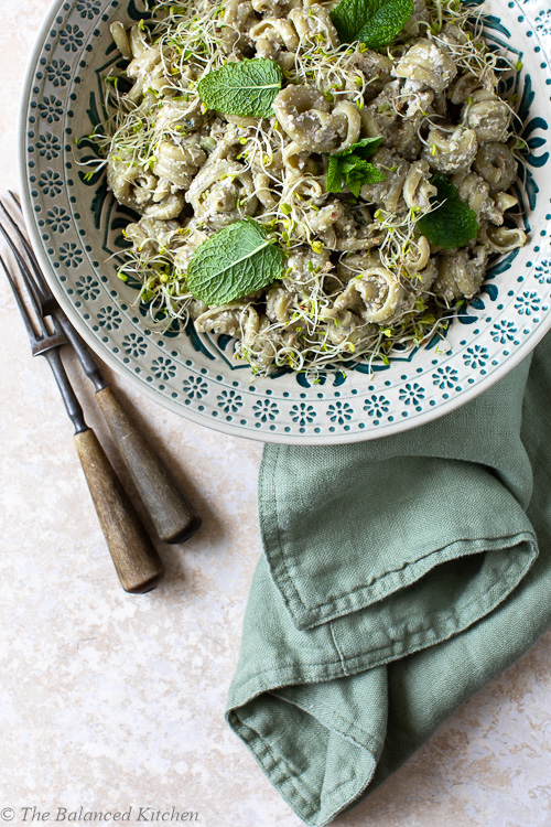 Broad Bean, Walnut, Lemon, Mint & Garlic Pasta Sauce