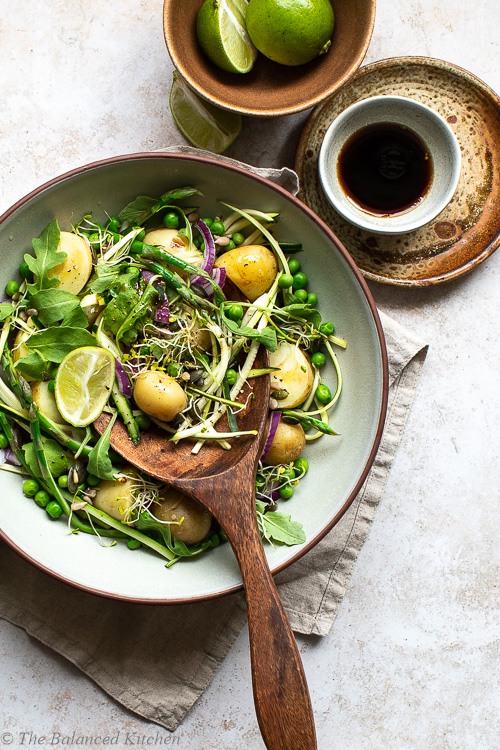 Asparagus, Pea & Courgette with Potatoes & Balsamic Vinaigrette
