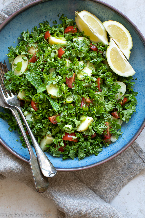 Tabbouleh – Parsley, Mint, Potatoes, Tomatoes & Spring Onion